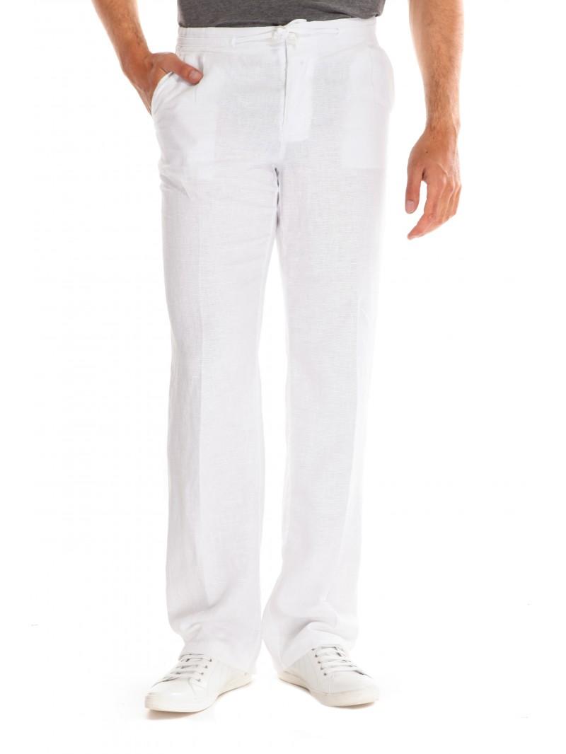 Pantalon en lin homme vous allez trouver votre bonheur ici - Pantalon peintre blanc pas cher ...